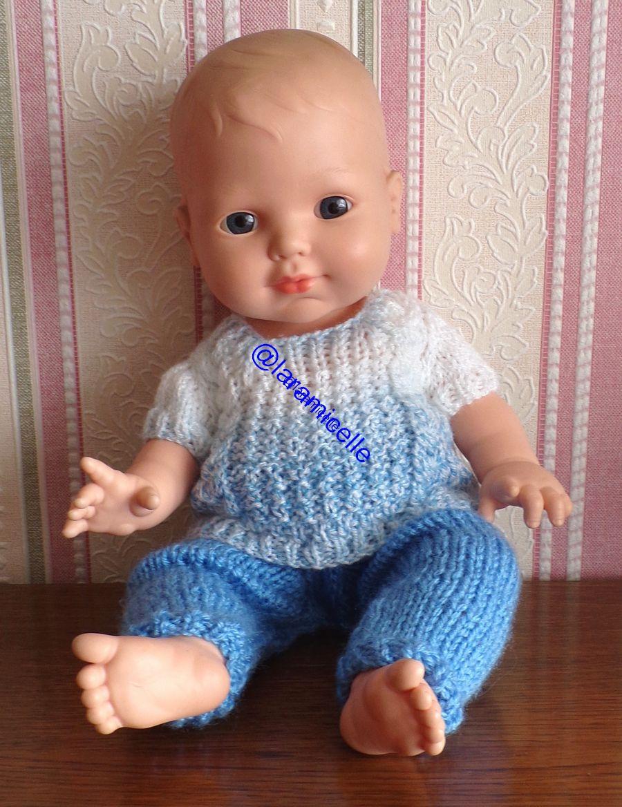 tuto gratuit  poupée  : pull printanier à encolure carrée