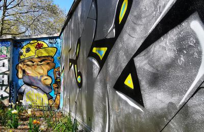 Street art rue Nogueres (Paris 19)