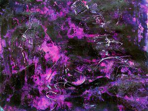 Dessin de Jocelyne Hassel, d'après sa peinture / collage abstraite