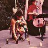 Poyesis Genetica-neo-azteca shaman @ Gullermo Gomez-Pena. 1979. Los Angeles