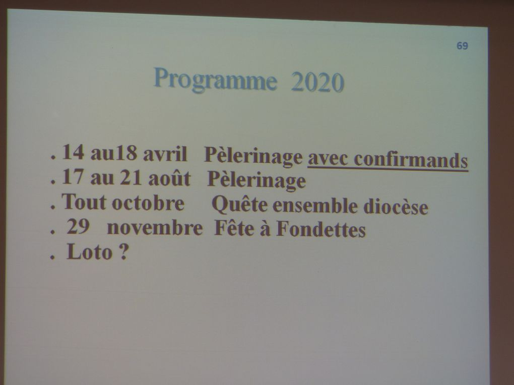 Photos de l'AG du 26 janvier 2020 ...