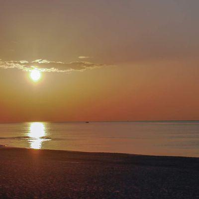 Soleil sur la méditerranée