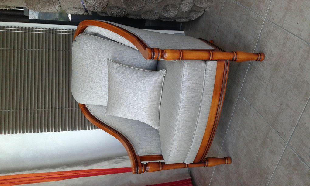 refection complète fauteuil moderne arabesque tapissier decorateur thiers tissu Casamance