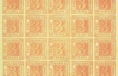 """""""Philatélia 90 """" à Berlin : le timbre """"Rote Dreier Sachsen"""""""