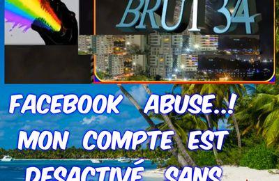 Mon compte Facebook  est désactivé brusquement par Facebook.!