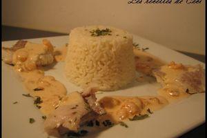 Filet de lieu noir sauce crevette