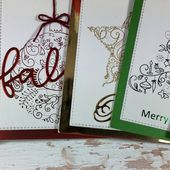 Foiled Christmas cards - Clips-n-Cuts