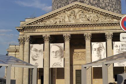QUATRE RESISTANTS RENTRENT AU PANTHEON (27/05/2015)