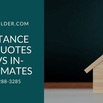Long Distance Moving Quotes Online Vs In-Home Estimates