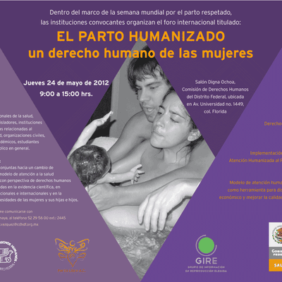 Semana mundial por el parto respetado (México)