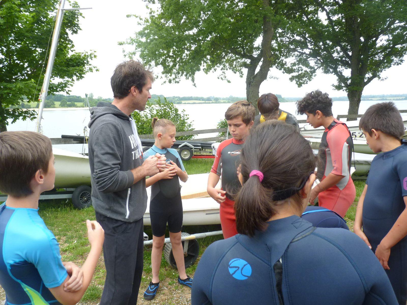 Classe de voile CM2 Lac de Pareloup du 28 juin au 2 juillet