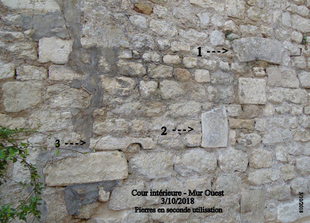 Et bien sûr dans cette demeure il a aussi été possible de procéder au relevé de graffiti.... Il ne reste plus qu'à les interpréter. Mais déjà ils sont sauvegardés de la dégradations, ils vont rejoindre les centaines d'autres déjà relevés dans notre cité, en remontant nettement aux temps antiques de notre romanité.