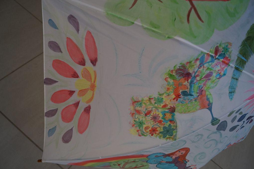 Mon Parapluie peint - terminé et en cours de travail