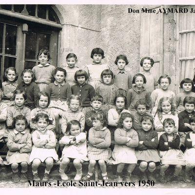 Photos de classe de l'école St-Jean à Maurs