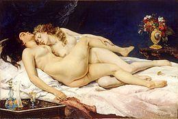 Deux femmes et Les demoiselles du bord de Seine Huile sur toile Gustave Courbet