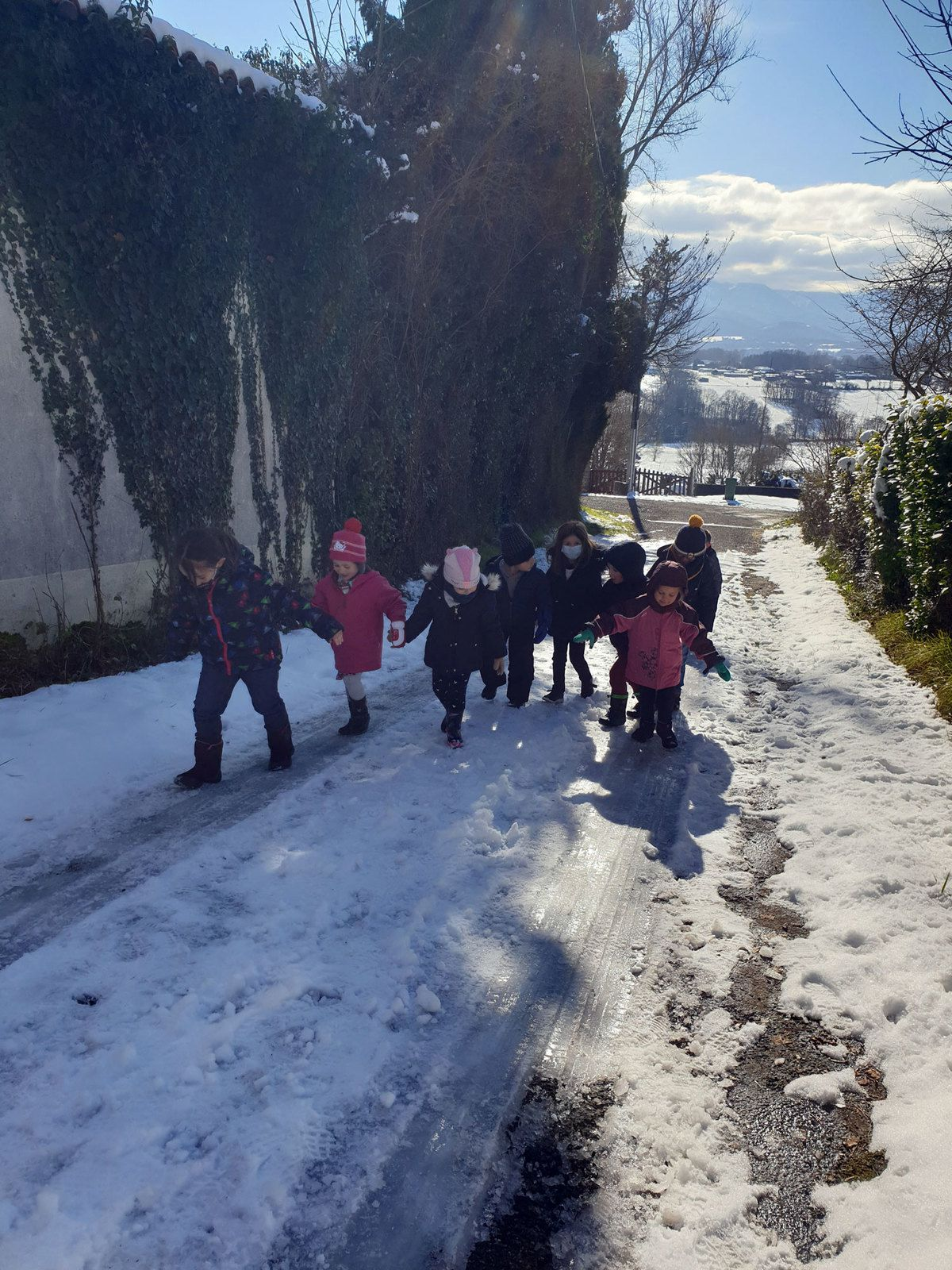 Castillon de Saint-Martory - Ambiance neige à l'ALAE