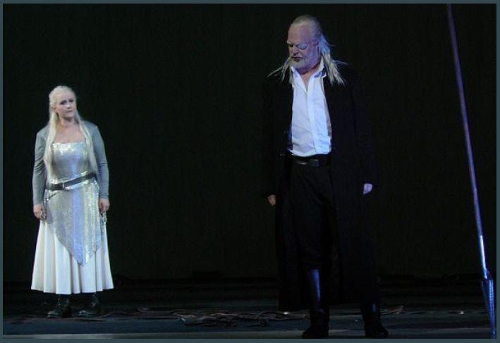 Katarina Dalayman (Brünnhilde) et Thomas Johann Mayer (Wotan)