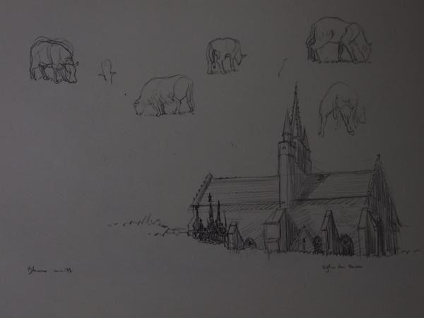 Destinés à l'idée et la construction d'un tableau, ces dessins vont d'une simple notation à une étude de composition très aboutie.