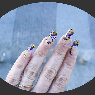 one stroke sur french violette