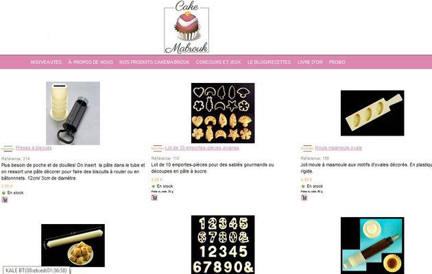 Articles de la boutique cakemabrouk.fr Maamoul ovale, piston rosace, presse à biscuits, emporte-pièces chiffres, ananas...