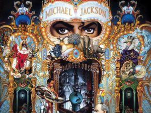 "Mickael Jackson ""Dangerous"", pochette d'album, 1991 / Sandro Botticelli ""Vénus"", 1485"