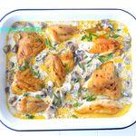 Poulet aux Champignons, sauce Crémée