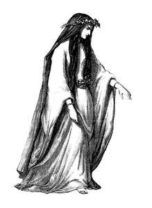 Prêtresse Celte . Druide.