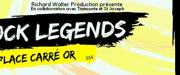 Contremarques Richard Walter Production Concert Rock Legend