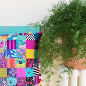 Easy Patchwork Pillow tutorial