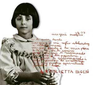 """Letterine di Antonietta Meo, detta """"Nennolina"""", la bambina che scriveva a Gesù"""
