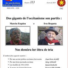 Occitanie / La revue du P.N.O. Lo Lugarn est en ligne