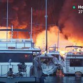 VIDEO - 20 yachts sombrent dans un port de plaisance de Hong-Kong - ActuNautique.com