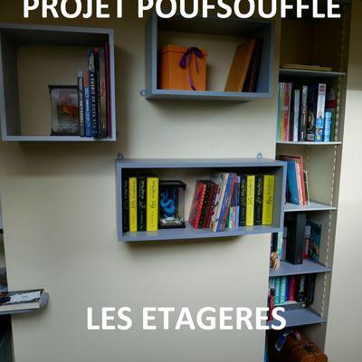 Projet Poufsouffle: des étagères partout!