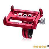 Poweradd Support de Téléphone Portable en Vélo Aluminium Support de Guidon Vélo Bicyclette Moto Cyclisme Gps Caméra Etend Jusqu'à 100mm- Rouge