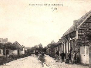 """""""Surville, vues sur l'intérieur du pays"""" comme on eût écrit sur ce type de cartes postales illustrées des années 1910."""