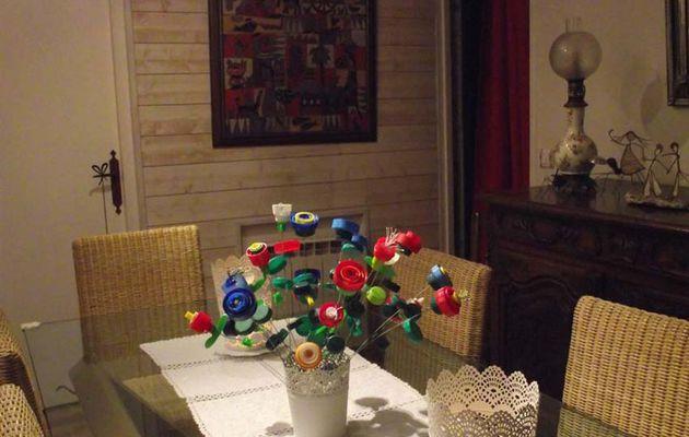 Des fleurs en bouchons