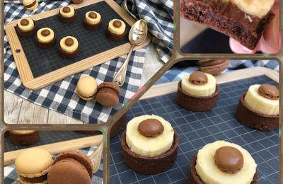 Tartelettes choco banane et petits macarons 🍫