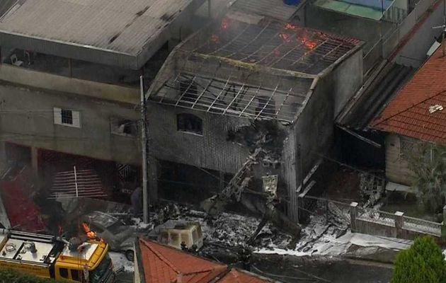 L'avion s'est écrasé près de l'aéroport de Campo de Marte, situé dans la partie nord de la ville de São Paulo.