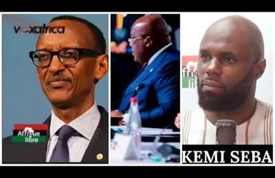 KEMI SEBA SUR PAUL KAGAME ET LA RDC, ET LE SOMMET DE LECONOMIE AFRICAINE