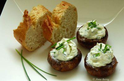 Champignons farçis au fromage frais
