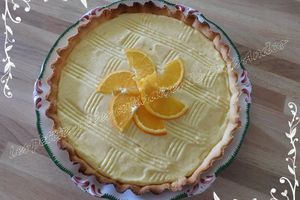 Tarte á la mousse d'orange