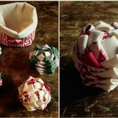 Tuto DIY - Une boule de Noël en tissu - Blog Déco - Blog DIY - Clem Around The Corner