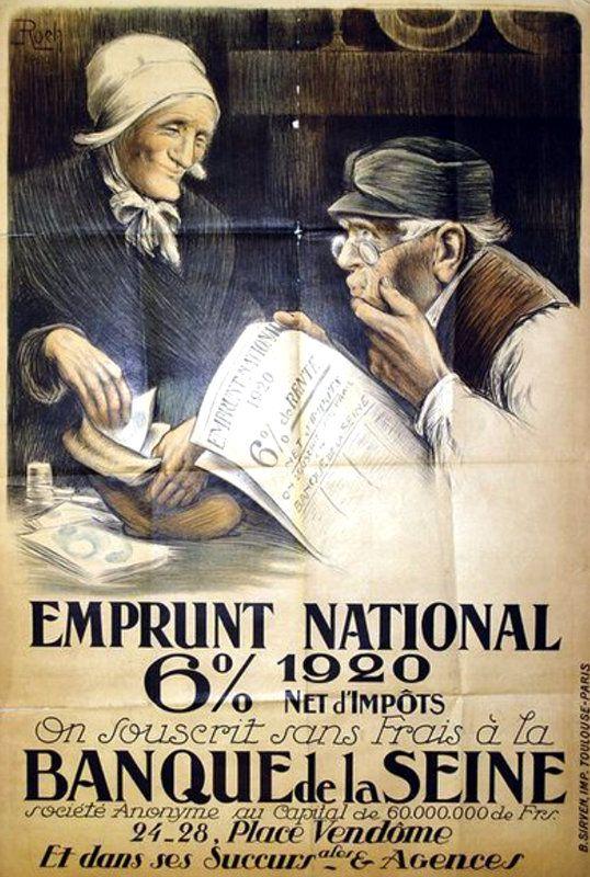 GUERRE 1914 - 1918 :  LES AFFICHES  DE  SOUSCRIPTIONS  D'EMPRUNT...