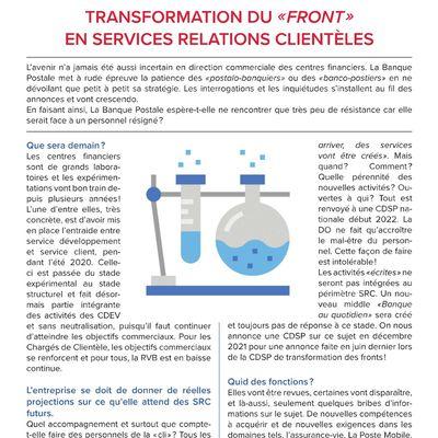 InFO : Centres Financiers – Énergies connectées - transformation du «front» en services relations clientèles