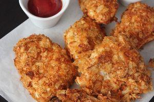 poulet aux chips au fourدجاج بالشيبس في الفرن