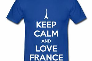 T shirt France Humour Keep Calm and Love France HBR