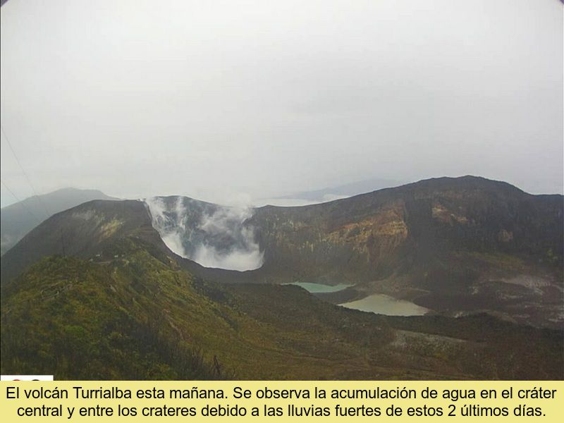 Turrialba - formation of 2 lakes close to the active crater - Doc. Ovsicori 07/24.2021