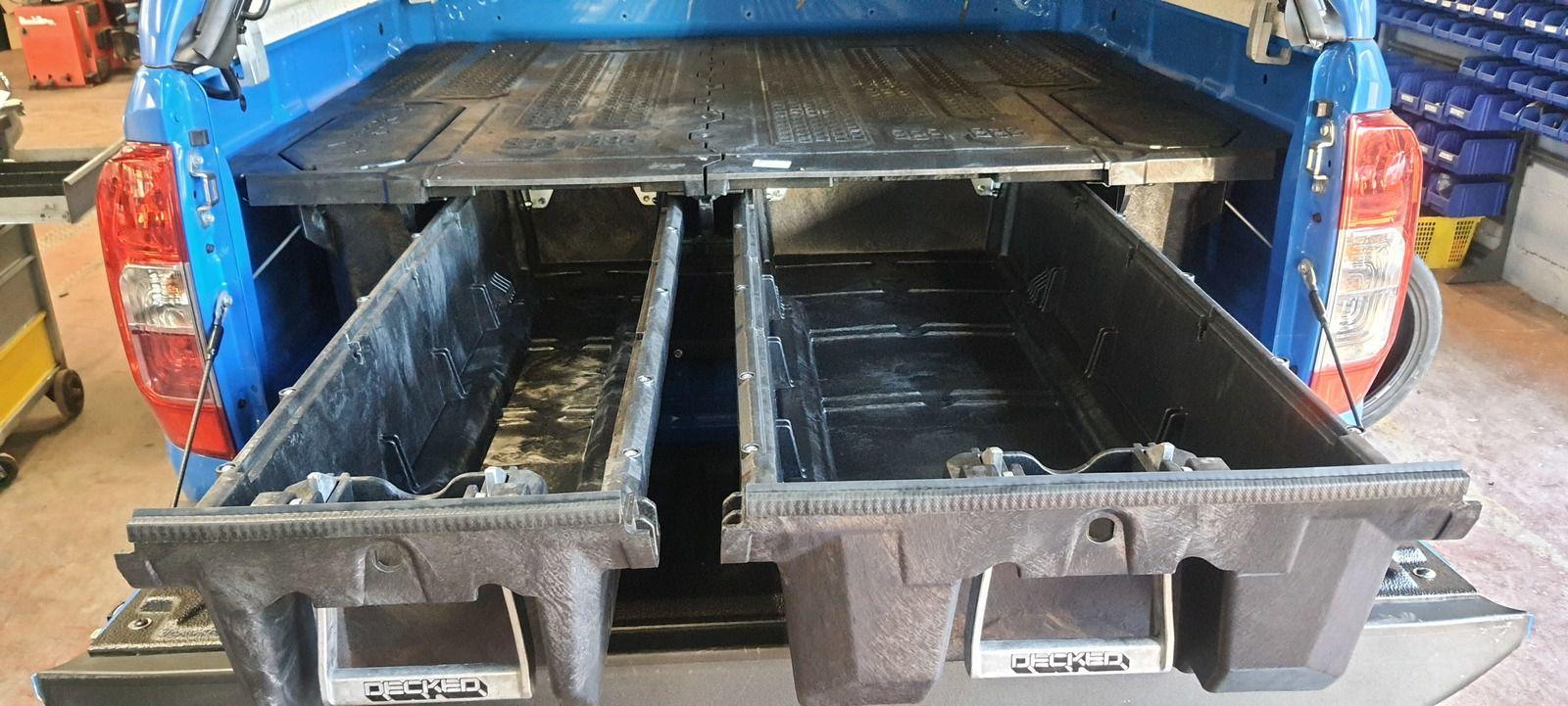 Tiroirs DECKED navara d23 double cab, + galerie hard top + barres de toit