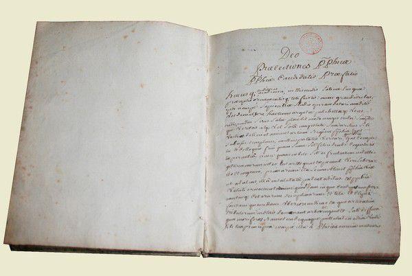LIVRE MANUSCRIT XVIII ème - Philosophie