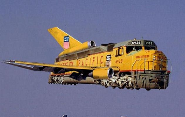 Fly me to the moon...With your Union Pacific